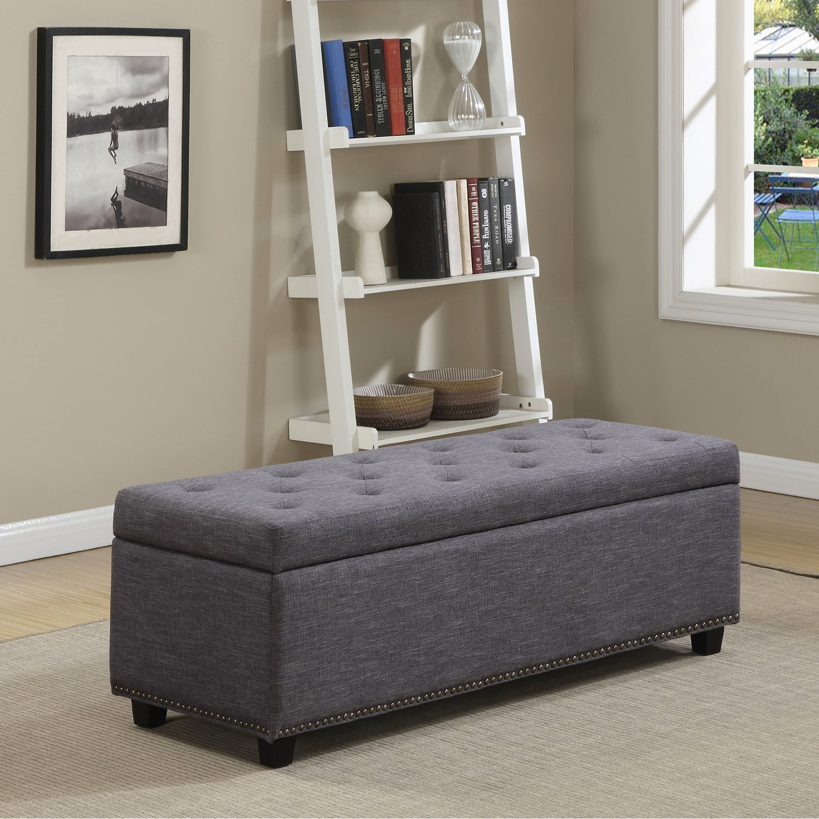 Simpli Home Hamilton Large Storage Ottoman Bench
