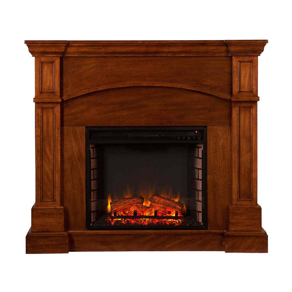 Della Electric Fireplace with Convertible Corner