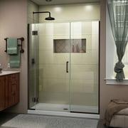 DreamLine Unidoor-X 48-48 1/2 in. W x 72 in. H Frameless Hinged Shower Door in Oil Rubbed Bronze