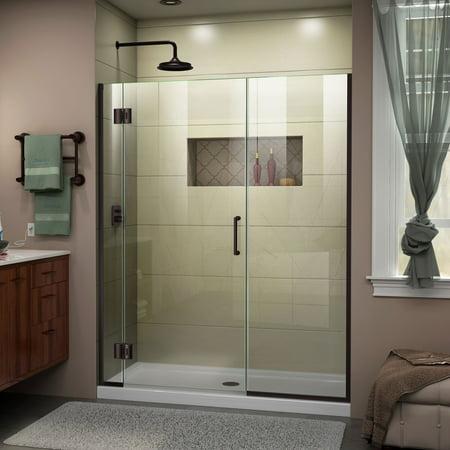 DreamLine Unidoor X 53 1 2 54 in W x 72 in H Frameless Hinged Shower D