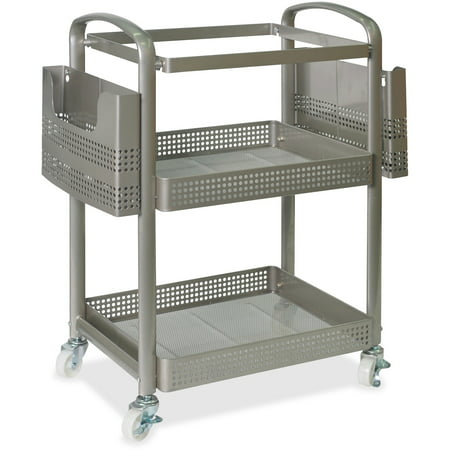Lorell, LLR45654, Mobile File Cart, 1 Each, Champagne Gold Basics Mobile Technology Cart