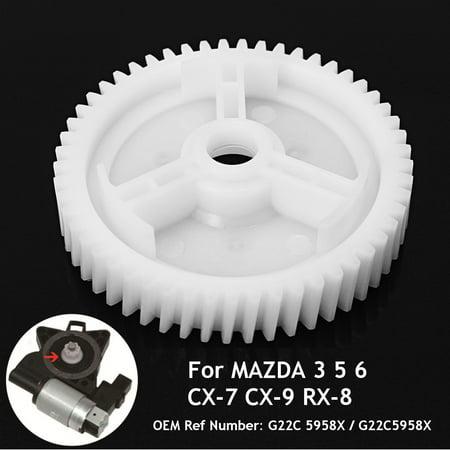For MAZDA 3 5 6 CX-7 CX-9 RX-8 Front Rear ABS Power Window Regulator Motor Gear