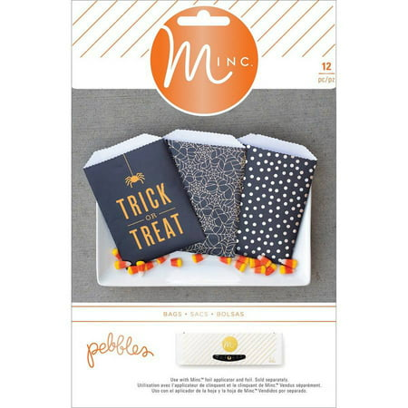 Minc Halloween Treat Bags, 12pk, Pebbles