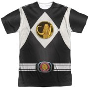 Power Rangers - Black Ranger Uniform (Front/Back Print) - Short Sleeve Shirt - X-Large