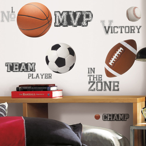 Wallhogs All Star Sports Cutout Wall Decal