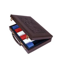Sunnywood 3341 Leather 300 Piece Poker Chip Case