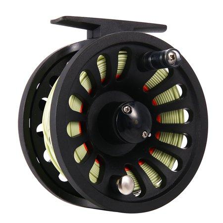 1+1B Bearing Fly Fishing Reel Fishing Line + Extension Line+Taper Leader + Tippet Set Line Color:Green & Orange thumbnail