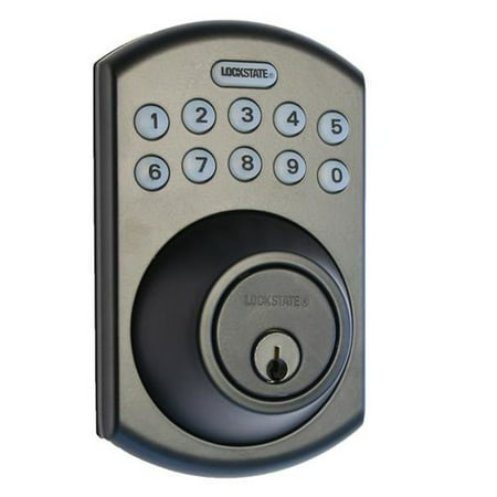 LockState Keyless Entry Electronic Deadbolt with Remote ()