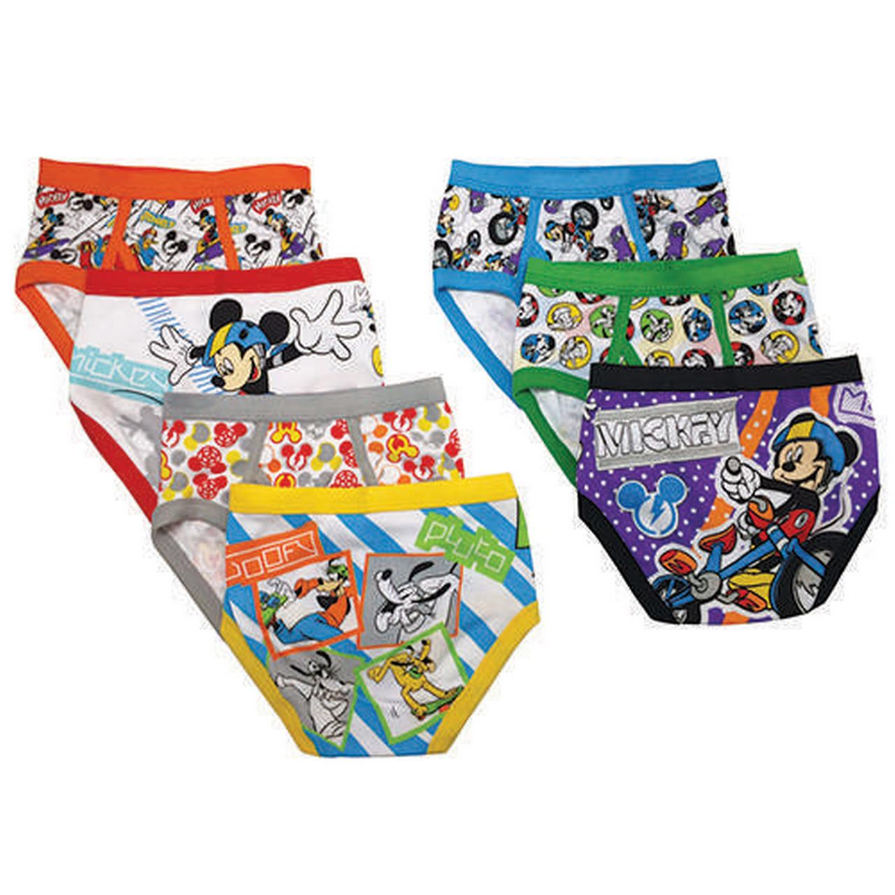 Disney Toddler Boy Mickey Mouse Underwear, 7-Pack