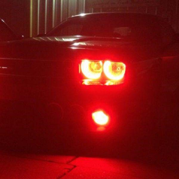 BlingLights 9005 HB3 Fire Truck Red LED Light Bulbs Set of 2