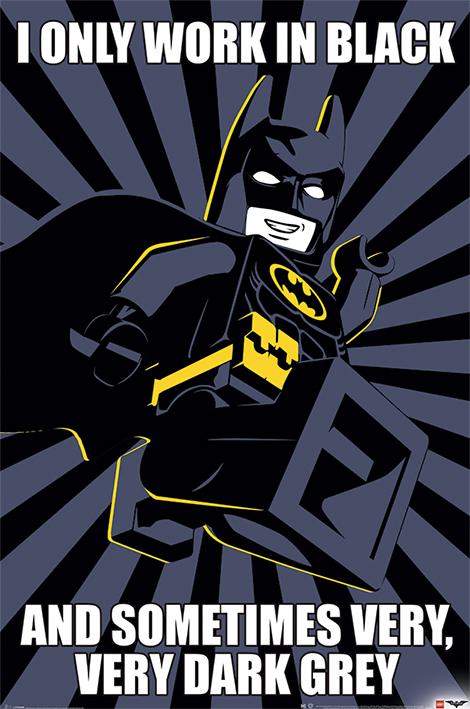 LEGO BATMAN PRINT POSTER WALL OR WINDOW STICKER VARIOUS SIZES