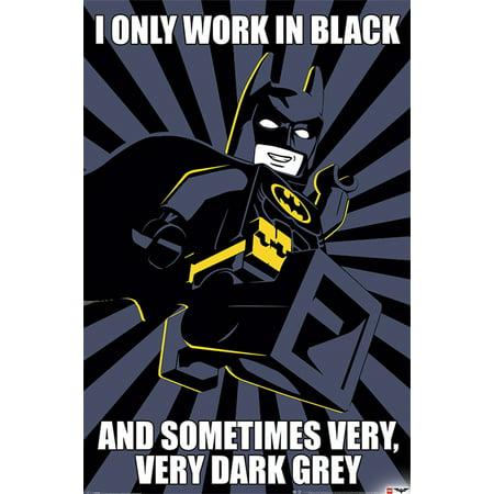 The LEGO Batman Movie - Movie Poster / Print (Batman: I Only Work In Black) (Size: 24