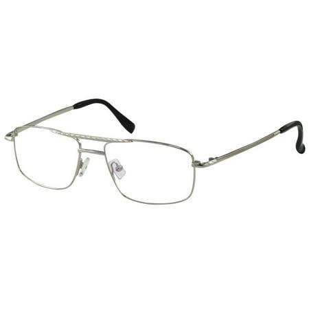 - Ebe Mens Rectangular Frames Reading Glasses Anti Reflective Stainless Steel sdwl2988