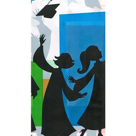 Graduation 'Hats Off Grad' Plastic Table Cover (1ct)