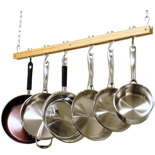 Cooks Standard Ceiling Mounted Wooden Pot Rack