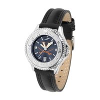 """Virginia Cavaliers NCAA Anochrome """"Competitor"""" Women's Watch (Poly/Leather Band)"""