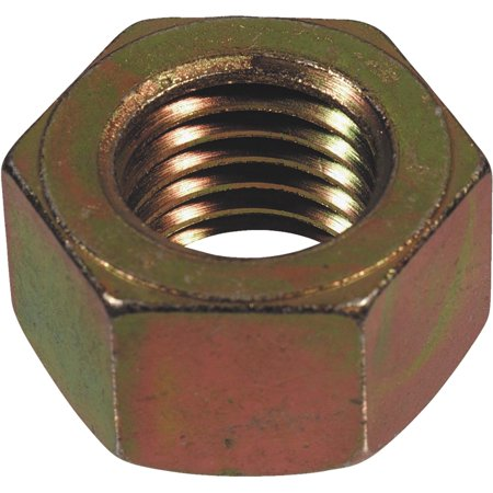Hillman Fasteners 180415 Hex Nut, Steel with Yellow Zinc Dichromate Finish, Heat Treated, Coarse Thread, 5/ - Quantity 1
