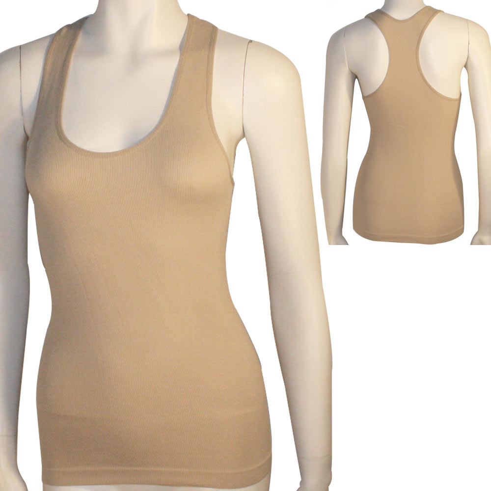 4bc08a16289f32 CCTX - Women s Seamless Racerback Tank Top Stretch Sleeveless Basic Cami  Sports Shirt - Walmart.com