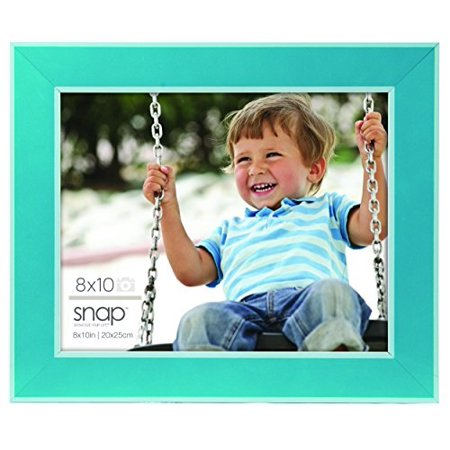 Snap 8x10 Turquoise With White Inner And Outer Border Wood Tabletop