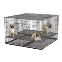 """MidWest Collapsible Metal Dog Playpen, Black, 48""""L x 48""""W x 30""""H"""
