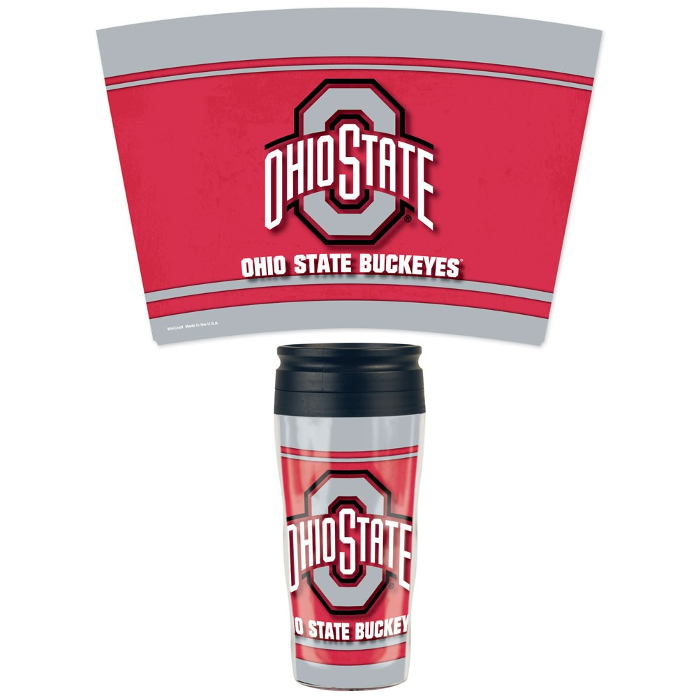 Ohio State Buckeyes Official NCAA 16 oz. Insulated Travel Mug by WinCraft