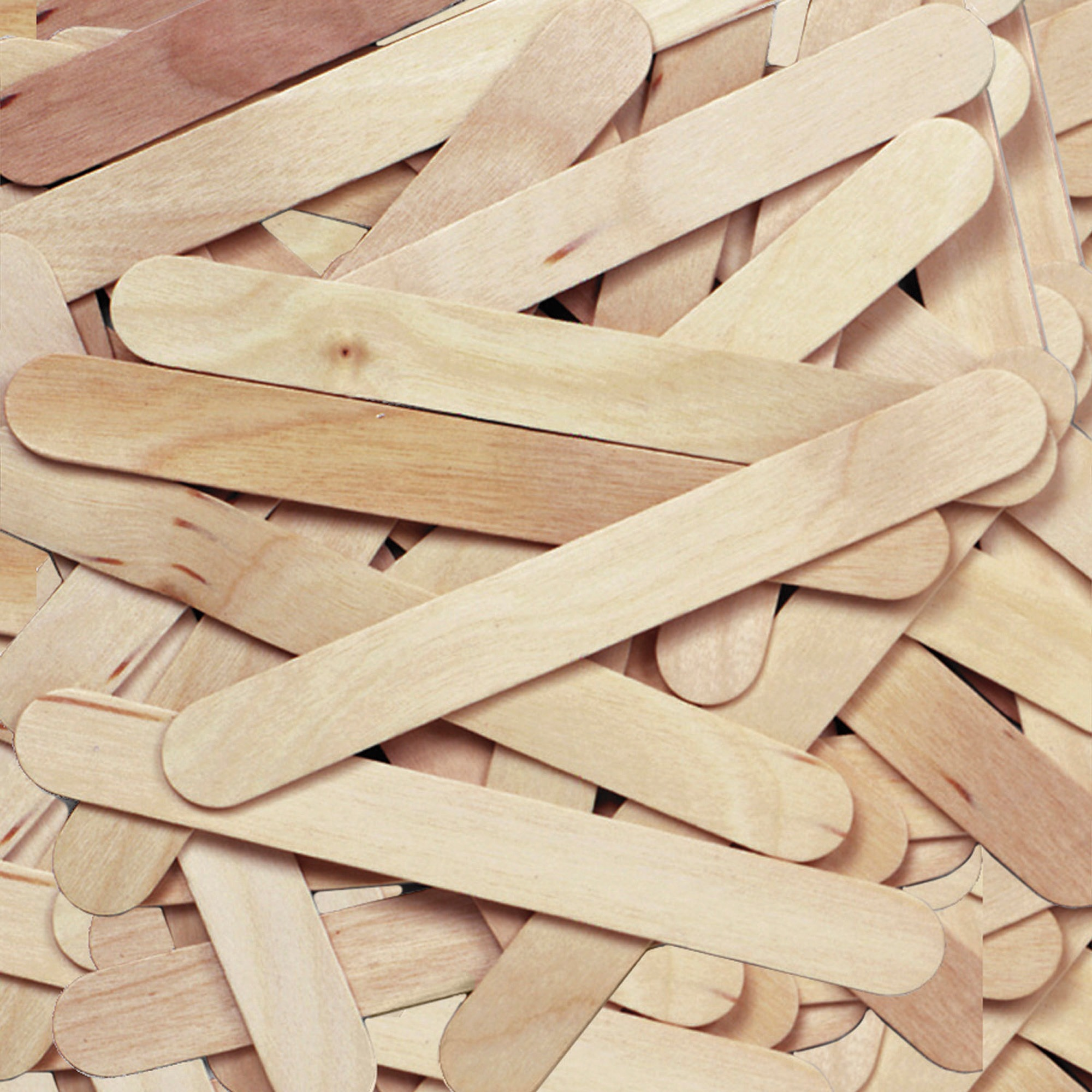 "Chenille Kraft Natural Wood Craft Sticks, Jumbo Size, 6"" x 3/4"", 500/Box"
