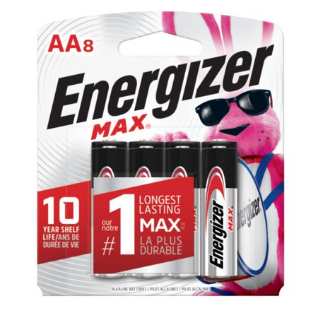 Energizer MAX Alkaline, AA Batteries, 8 Pack
