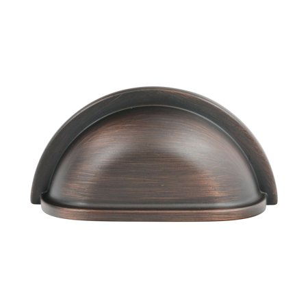 25 Pack Crescent 3-Inch Brushed Oil- Rubbed Bronze Cup Cabinet Hardware Pull/Handle
