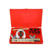 WALFRONT 9pcs Pipe Flaring Tool Kit Tube Repair Flare Includes Clamp Spreader Dies,Flare Tool Kit, Tube Flare Tool