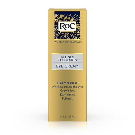 RoC Retinol Correxion Anti-Aging Eye Cream Treatment for Wrinkles, Crows Feet, Dark Circles, and Puffiness .5 fl. (Best Cure For Dark Circles Under Eyes)