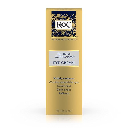 RoC Retinol Correxion Anti-Aging Eye Cream Treatment for Wrinkles, Crows Feet, Dark Circles, and Puffiness .5 fl. (Best Eye Cream For Bags Under Eyes Uk)