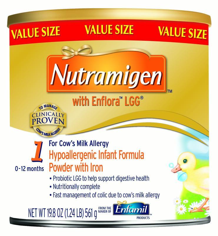 Nutramigen with Enflora LGG Hypoallergenic Infant Formula, Powder, 19.8 oz Can