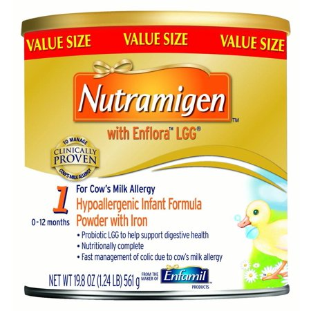 Nutramigen with Enflora LGG Hypoallergenic Infant Formula, Powder, 19.8 oz (Tripe Formula)