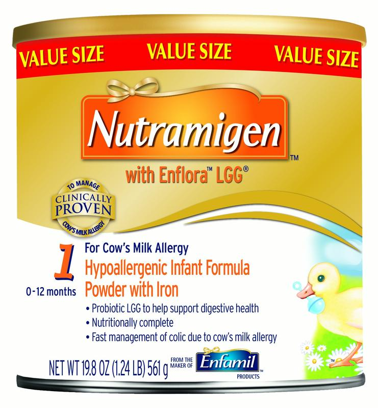 Nutramigen with Enflora LGG Hypoallergenic Infant Formula, Powder, 19.8 oz Can