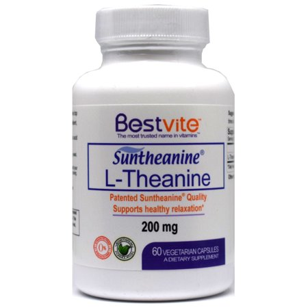 L-Theanine 200mg with Suntheanine (60 Vegetarian Capsules)