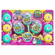 Pikmi Pops Super Suprise Pack Include 6 Exclusive Scented Plush Characters, 3 Reusable Lollipop Packages, 12 Surprises