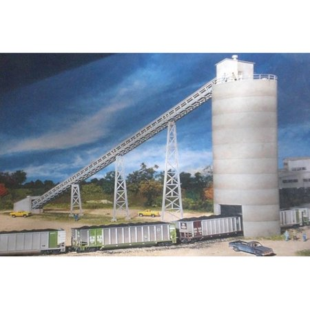 Walthers Cornerstone N Scale Building/Structure Kit Western Coal Flood  Loader