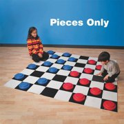 Jumbo Checkers Pieces, Pack of 24