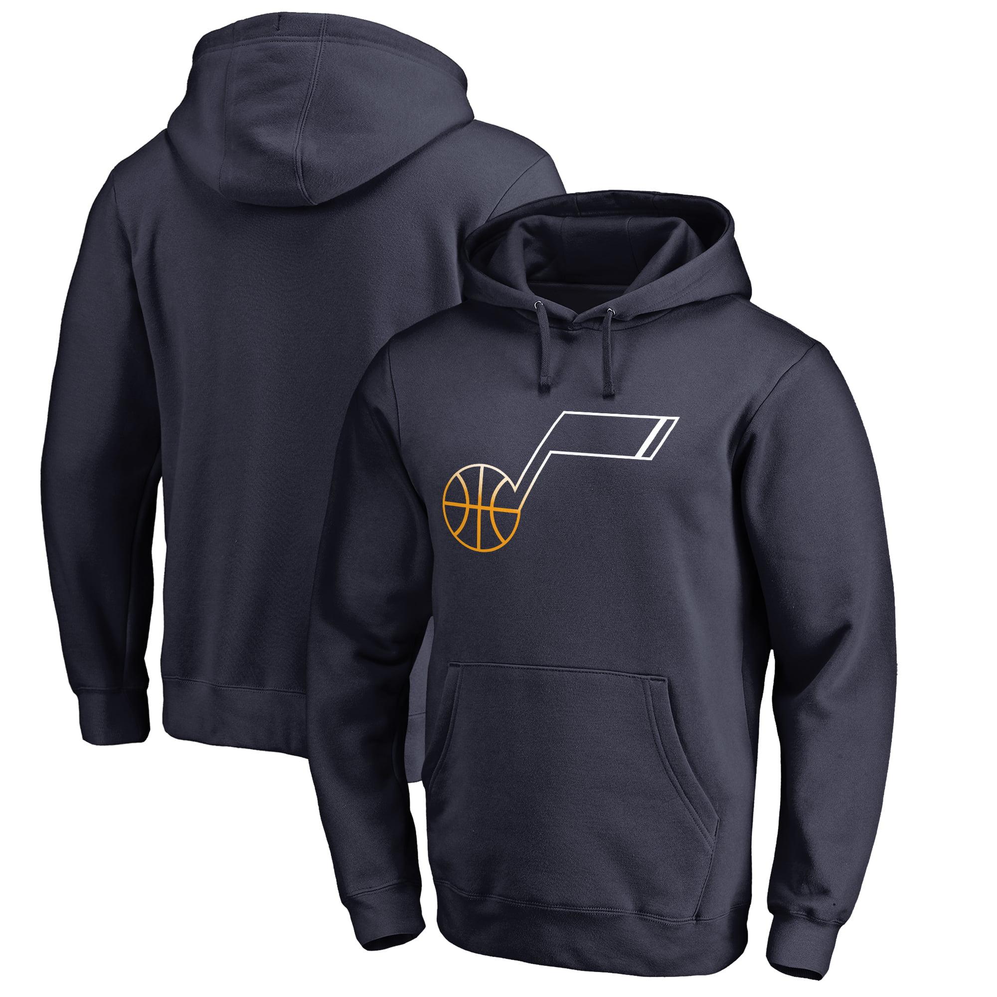 Utah Jazz Fanatics Branded Gradient Logo Pullover Hoodie - Navy