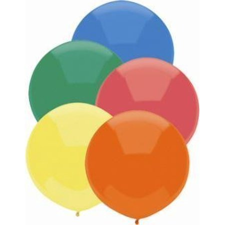 36 Inch Giant Round Standard Assorted Latex Balloons Pkg/10 by TUFTEX
