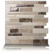 "Tic Tac Tiles - Premium Anti-Mold Peel and Stick Wall Tile Backsplash in 10""x10"" Polito Bella (1 Tile Sheet)"