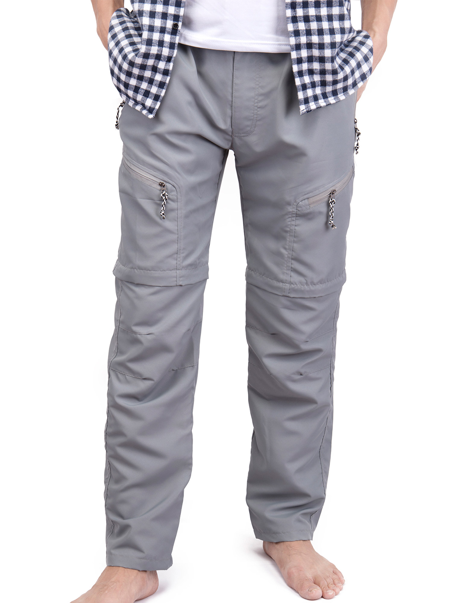 Mens Outdoor Sun Protection Quick Dry Convertible Lightweight Hiking Fishing Zip Off Cargo Work Pant