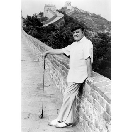 Bob Hope  Posing By Great Wall Of China With Golf Club Show Was On Nbc Bob Hope On The Road To China (Show Me The Great Wall Of China)