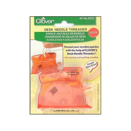 Clover Desk Needle Threader Pink