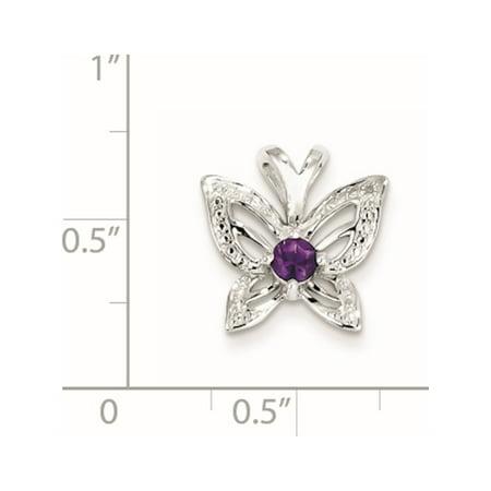 925 en argent sterling plaqu? rhodium Am?thyste et diamants Pendentif / Breloque - image 1 de 2