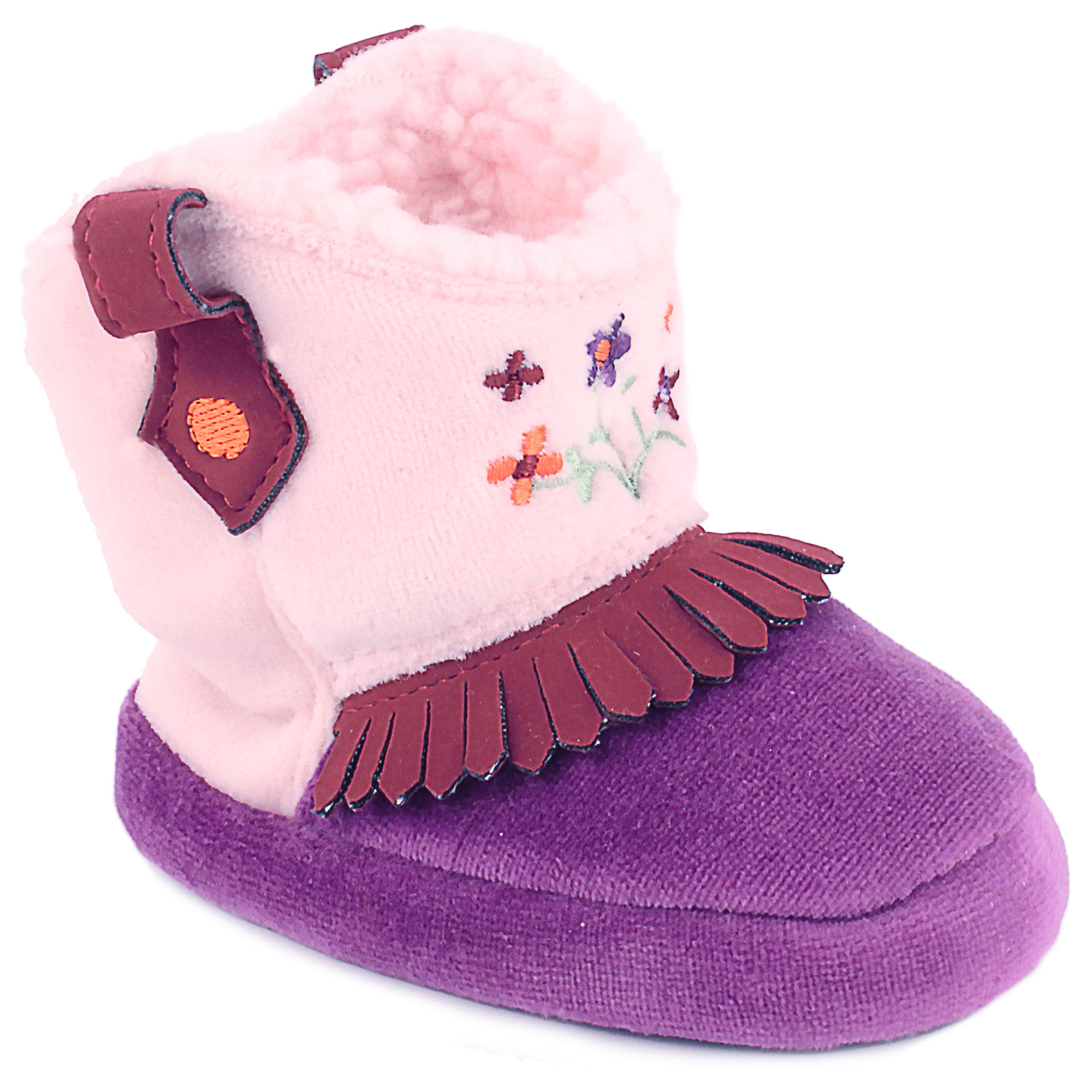 Wee Kids Baby Cowboy Boots For Girls Western Cowgirl Slippers Purple
