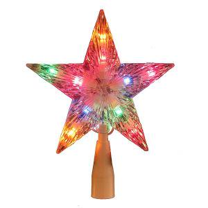 Multi-Colored Crystal Star Tree Topper for Christmas Tree (Star For Christmas Tree)