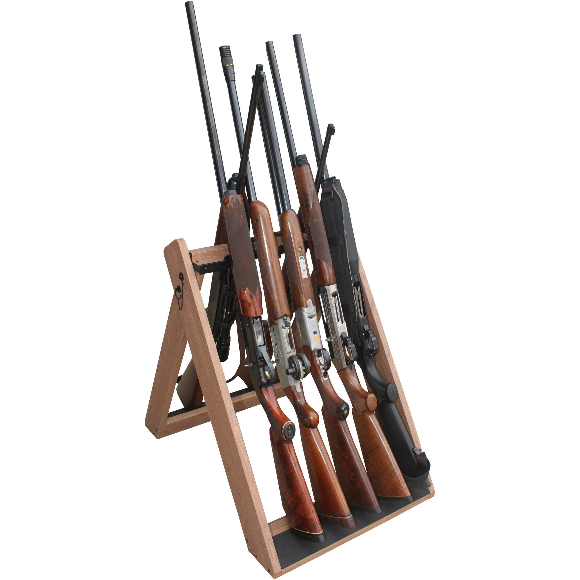 Rush Creek Creations Deer Camp Portable 10 Gun Folding Storage Rack