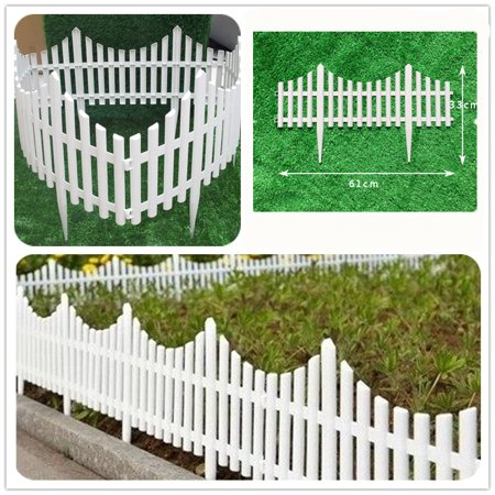 On Clearance Victorian Garden Border Fencing Set 24 FT Garden Border Fencing Fence Panels Outdoor Landscape Decor Edging Yard 12 Pack ()