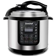 Zeny 7-in-1 NEWEST 6.3Qt Multifunctional Stainless Steel Electric Pressure Cooker 1000W w/LED Display Screen, Slow Cooker, Rice Cooker, Sauté, Steamer, Yogurt Maker & Food Warmer